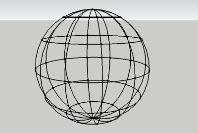 sphere with altitude and longitude lines