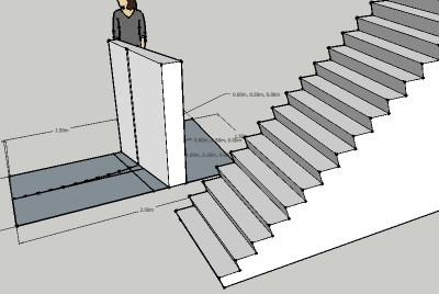 control lines bezier stair
