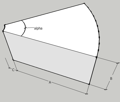 rectangular duct radius variable angle elbow