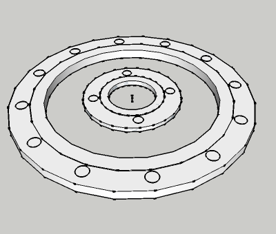 AS 2129 Plate flange raised face