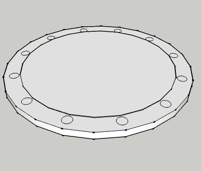 AS 2129 Blind flange raised face