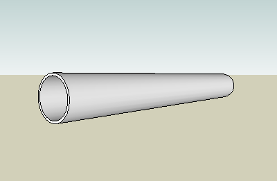 Pipe or tube - change in diameter or radius with changed temperature